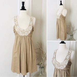 ANTHRO Molly EUC Linen & Lace Dress